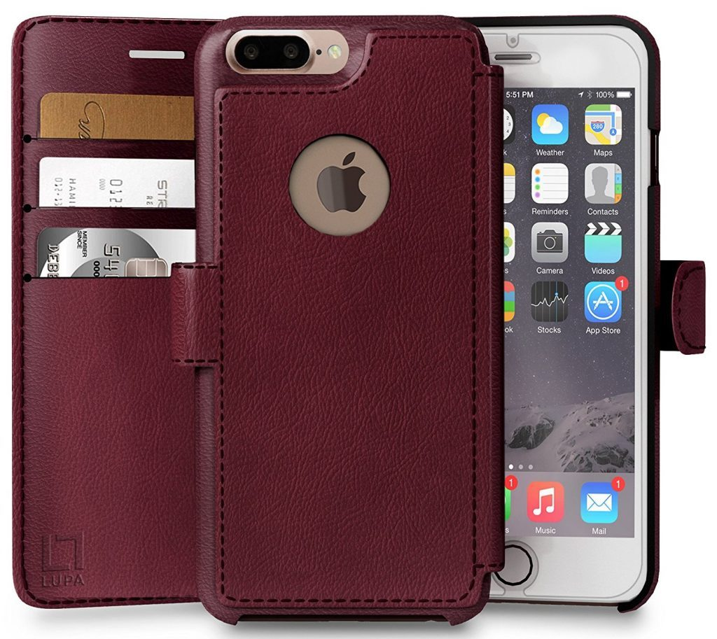 étui en cuir pour iPhone 8