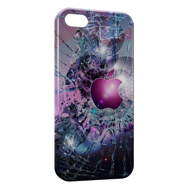 Coque iPhone 4 & 4S Apple Pink Brisé
