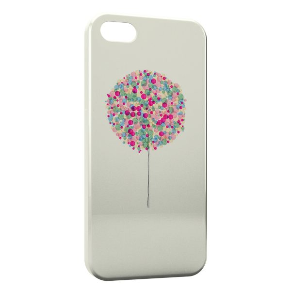 Coque iPhone 4 & 4S Arbre multicolor paint