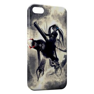 Coque iPhone 4 & 4S Black rock shooter BRS Manga