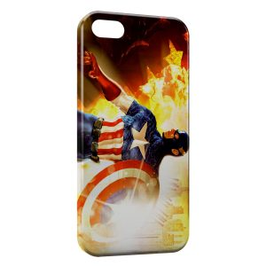 Coque iPhone 4 & 4S Captain America Fire