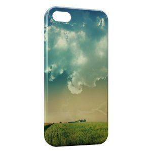 Coque iPhone 4 & 4S Champs & Ciel