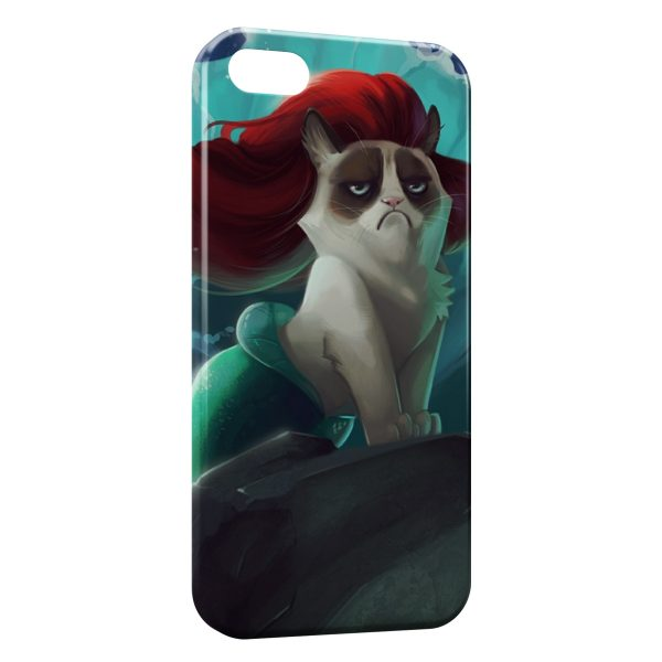 Coque iPhone 4 & 4S Chat Sirène