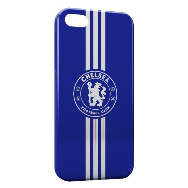 Coque iPhone 4 & 4S Chelsea FC Football Blue Lines