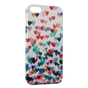 Coque iPhone 4 & 4S Coeurs Colors