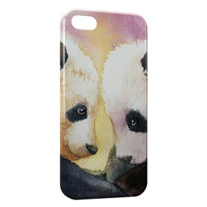 Coque iPhone 4 & 4S Cute Pandas Painted