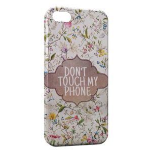 Coque iPhone 4 & 4S Dont Touch My Phone Design Flowers