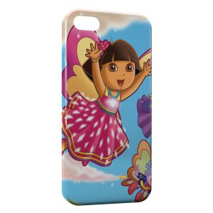 Coque iPhone 4 & 4S Dora l'exploratrice Fée Rose