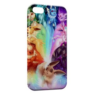 Coque iPhone 4 & 4S Evoli Evolutions Pokemon Art Colored