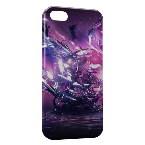 Coque iPhone 4 & 4S Explosion Violette