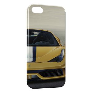 Coque iPhone 4 & 4S Ferrari Jaune Voiture Luxe