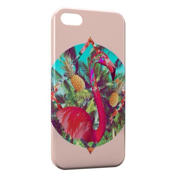Coque iPhone 4 & 4S Flamant Rose Art Design