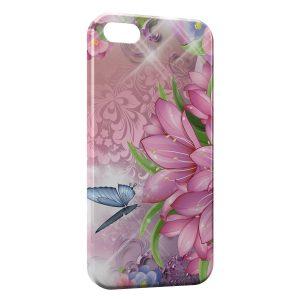 Coque iPhone 4 & 4S Fleurs et Papillons