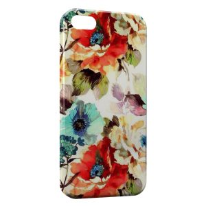 Coque iPhone 4 & 4S Flowers Fleur Peinture