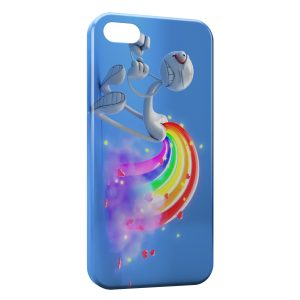 Coque iPhone 4 & 4S Fun Cartoon Arc en Ciel