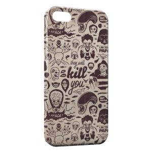 Coque iPhone 4 & 4S Funny Perso Movies