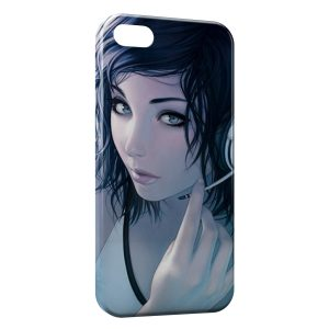 Coque iPhone 4 & 4S Girl & Music