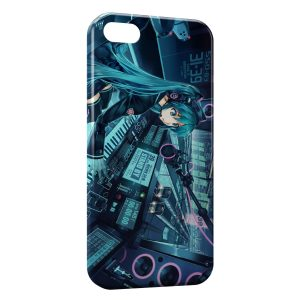 Coque iPhone 4 & 4S Girl Music Space