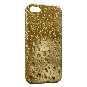 Coque iPhone 4 & 4S Gold Gouttes d'eau