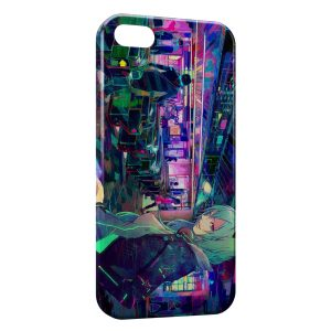 Coque iPhone 4 & 4S High Tech Anime Manga Girl