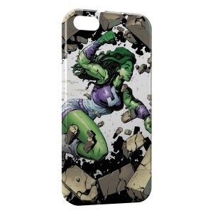 Coque iPhone 4 & 4S Hulk Girl