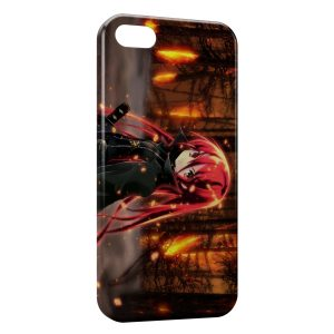 Coque iPhone 4 & 4S In The Forest of Red Hair Anime Girl