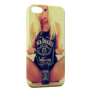 Coque iPhone 4 & 4S Jack Daniel's Sexy Girl Blonde