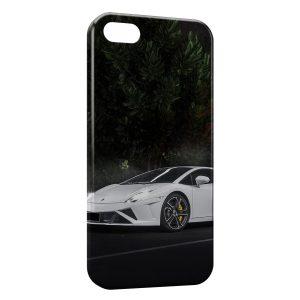 Coque iPhone 4 & 4S Lamborghini LP560 Blanche Voiture