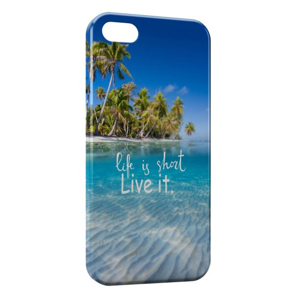 Coque iPhone 4 & 4S Life is Short Live it