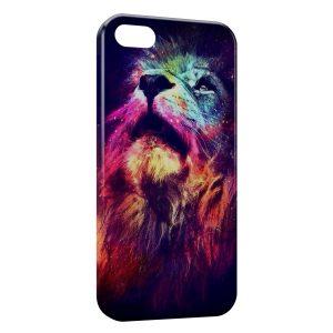 Coque iPhone 4 & 4S Lion Multicolor 3
