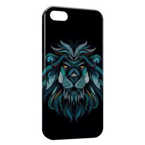 Coque iPhone 4 & 4S Lion Style Design Blue