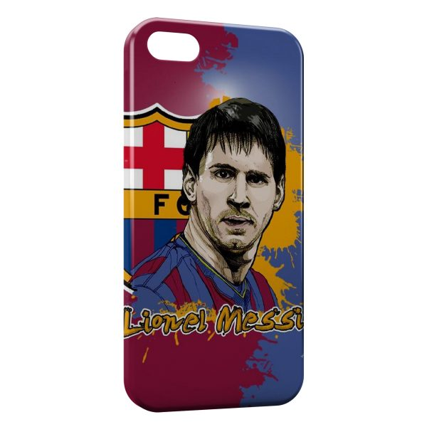 Coque iPhone 4 & 4S Lionel Messi Football FC Barcelone 5