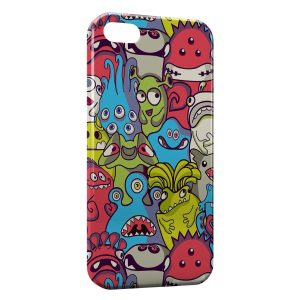 Coque iPhone 4 & 4S Little Multicolor Monsters