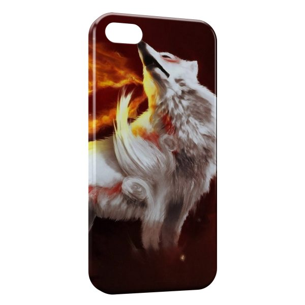 Coque iPhone 4 & 4S Loup & Fire