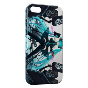 Coque iPhone 4 & 4S Manga Anime Girl Music