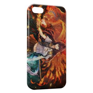Coque iPhone 4 & 4S Manga Cute Girl Sword