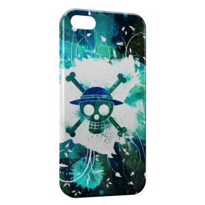 Coque iPhone 4 & 4S Manga One Piece Tete de mort Colored