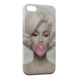 Coque iPhone 4 & 4S Marilyn Bubble Gum