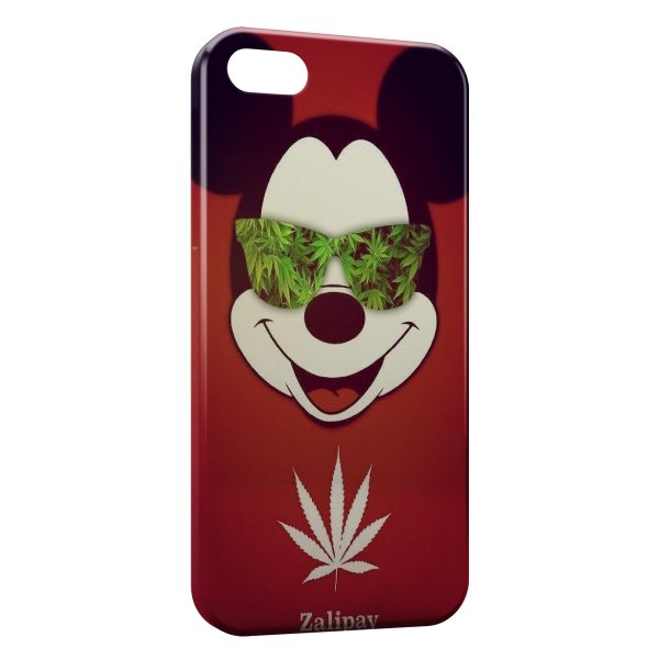 Coque iPhone 4 4S Mickey Cannabis Weed Lunette 600x600
