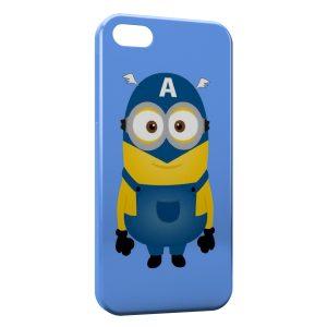 Coque iPhone 4 & 4S Minion Captain America