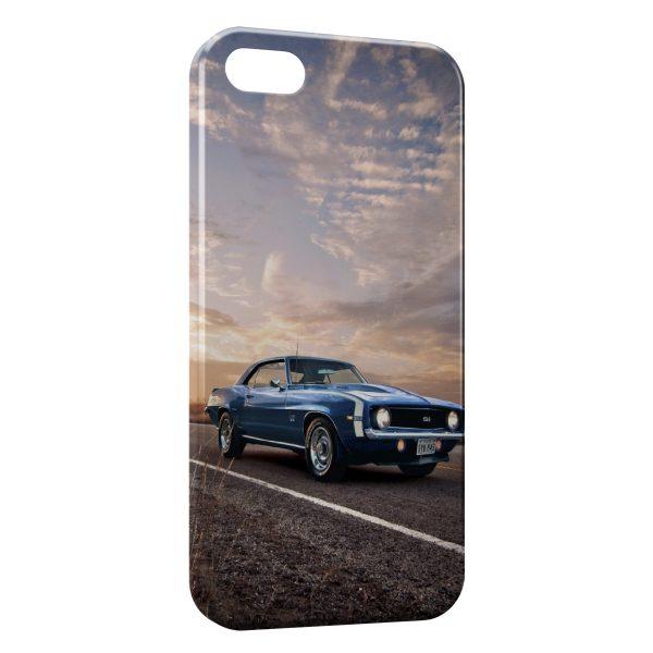 Coque iPhone 4 & 4S Mustang Bleue