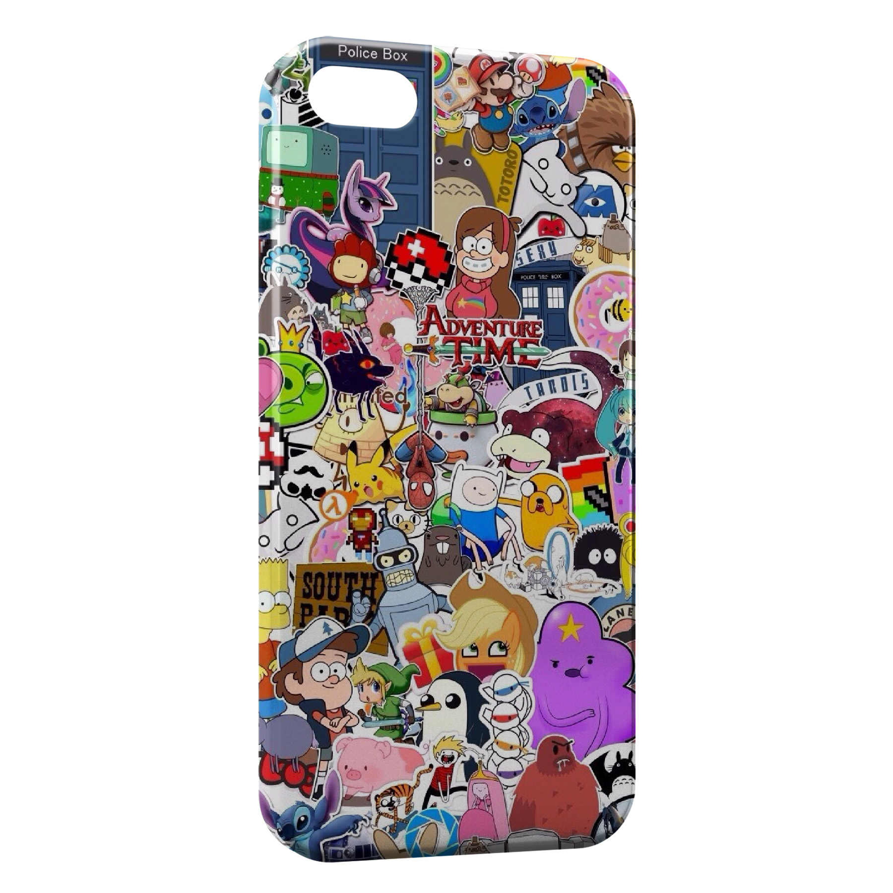 Coque iPhone 4 4S Personnages Manga Cartoon Web Youtube