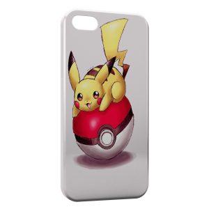 Coque iPhone 4 & 4S Pikachu Pokeball Pokemon Dessin