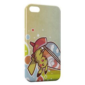 Coque iPhone 4 & 4S Pikachu Pokemon Planche a Voile