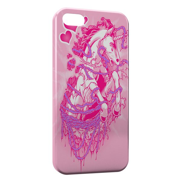 Coque iPhone 4 & 4S Pink Licorne