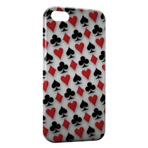 Coque iPhone 4 & 4S Poker Cartes AS