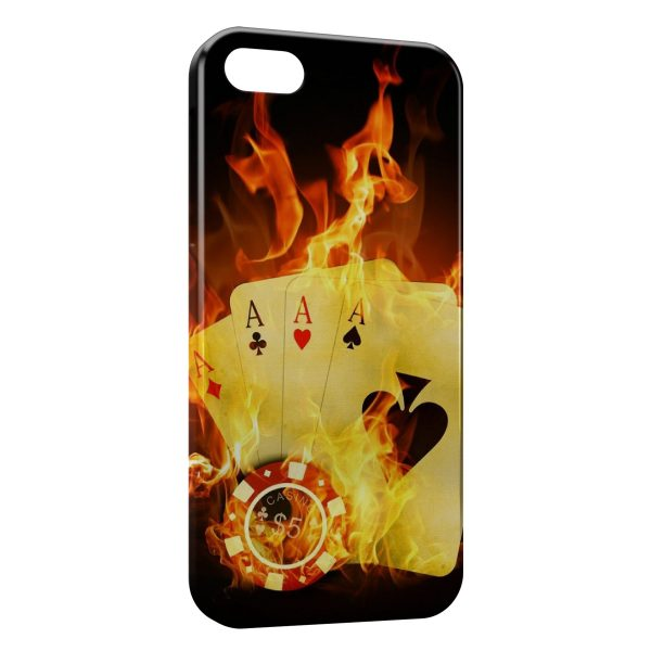 Coque iPhone 4 & 4S Poker Fire
