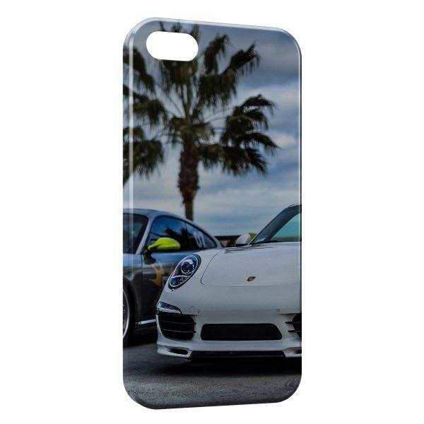 Coque iPhone 4 & 4S Porsche et Palmier