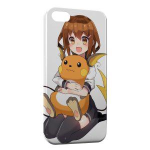 Coque iPhone 4 & 4S Raichu Pokemon Dans les bras