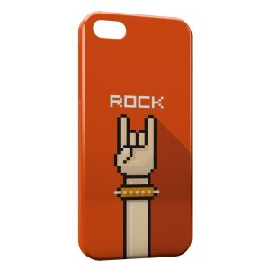 Coque iPhone 4 & 4S Rock Art Pixel